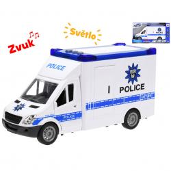 Auto policja światło dźwięk
