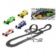 Autodráha 1:43 Polistil 10,1 Grand Prix Formula 4ks závodných áut s ovládačmi v krabičke