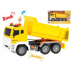 Cieżarówka plastikowa 1:12 28 cm ze światłem i dźwiękiem