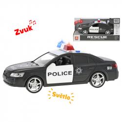 Auto policyjne plastikowe 24 cm ze światłem i dźwiękiem