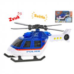 Helikopter policyjny plastikowy 18 cm ze światłem i dźwiękiem