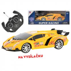 R / C samochód sportowy 25cm 1:16 w pełni funkcjonalny akumulator 27MHz ze światłem w pudełku