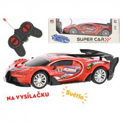 R/C auto závodní 19cm 1:20 plná funkce na baterie se světlem 27MHz v krabičce