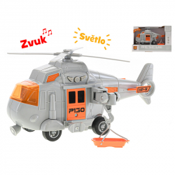 Helikopter  plastikowy 1:20 20 cm cm ze światłem i dźwiękiem