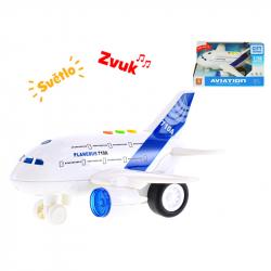 Samolot plastikowy 1:200 20 cm ze światłem i dźwiękiem