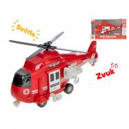 Helikopter plastikowy 1:16 28 cm ze światłem i dźwiękiem