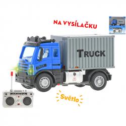Cieżarówka kontener 1:64 12,5 cm 27MHz ze światłem w WBX