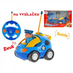 Samochód policyjny na radio 13 cm 27MHz ze światłem 2 wzory w WBX
