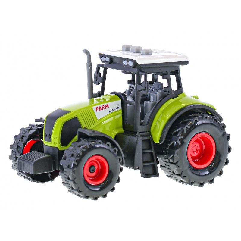 Traktor 14,5cm ze światłem i dźwiękiem w pudełku