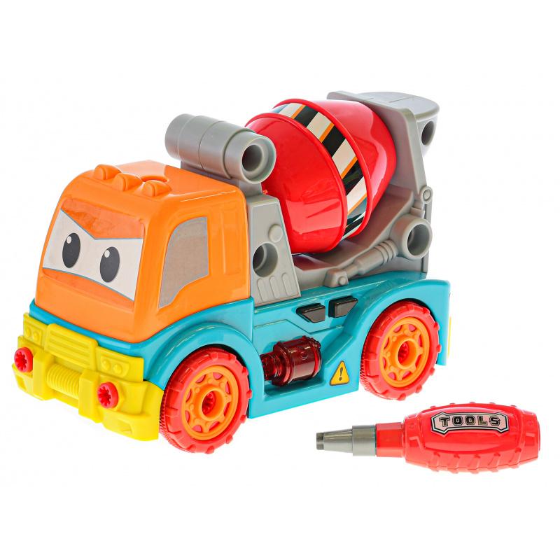 Auto domiešavač skrutkovacie 25cm na voľný chod na batérie so svetlom a zvukom v krabičke