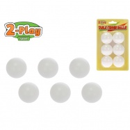 Loptičky na stolný tenis 2-Play 6ks na karte
