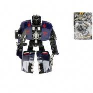 Robot / auto policajné 16cm s doplnkami 2 farby na karte