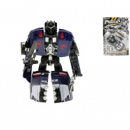 Robot/auto policejní 16cm s doplňky 2 barvy na kartě