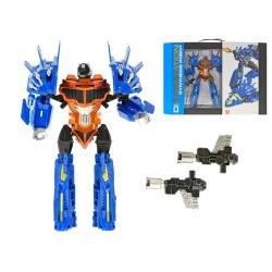 Robot/stíhačka 22cm s doplnkami v krabičke