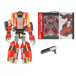 Robot / auto vojenskej 22cm s doplnkami v krabičke