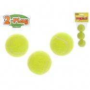 Tenisové loptičky 2-Play 6cm 3ks v sáčku