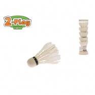 Košíčky na badminton péřové bílé 2-Play 6ks v tubě