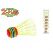 Košíčky na badminton žluté 2-Play 6ks v tubě