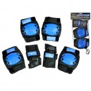 Chrániče menšie 6ks modro-čierne v sieťke