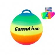 Skákací míč duhový 55cm v síťce