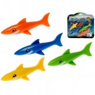 Žralok do vody 12cm 4ks na kartě