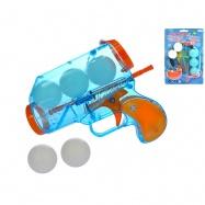 Pistole na míčky 15cm 5míčků na kartě
