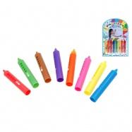 Pastelky mýdlové do vany omyvatelné 8 barev 8ks na kartě
