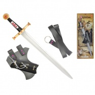 Rytířská sada meč 63cm s pouzdrem a opaskem na kartě