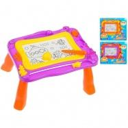 Magnetická kreslící tabulka stojací 39x30x17cm 3barvy v krabičce
