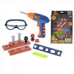 Zestaw narzędzi z wiertarką i okularami 18 cm w WBX