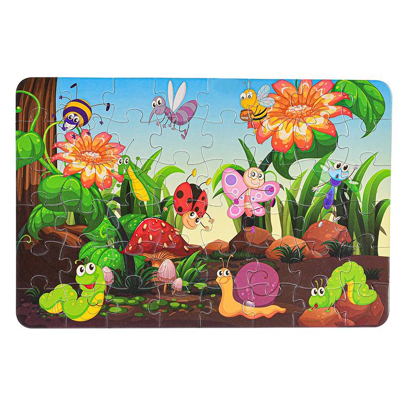 Puzzle zwierzęta leśne 48 elementów 42x28 cm w pudełku