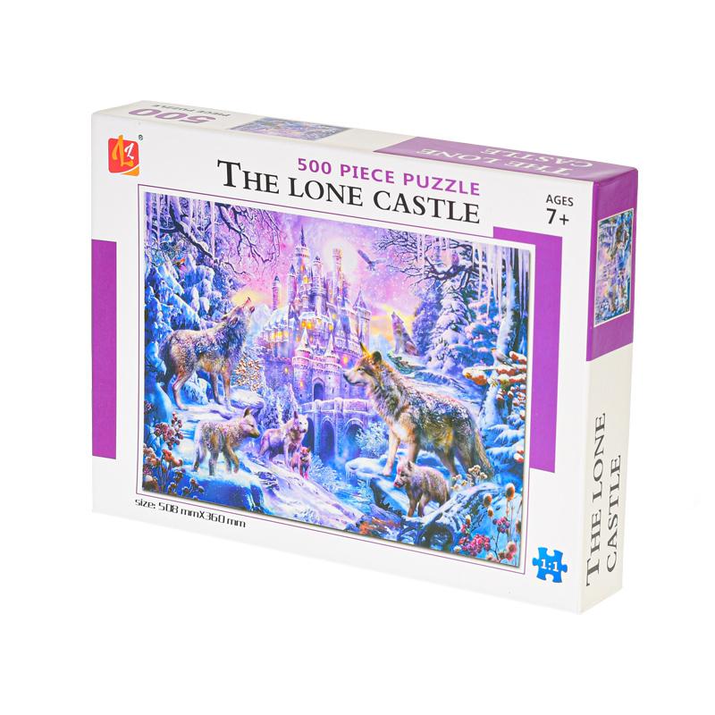 Puzzle zamek 500 elementów 51x36 cm w pudełku