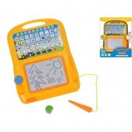 Vzdělávací tablet s kreslící tabulkou 25x20cm na baterie česky mluvící v krabičce