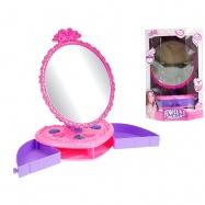 Zrcadlo stolní 24cm s přihrádkami na šperky v krabičce