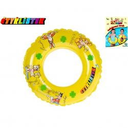 Kruh Čtyřlístek transparentní 40cm 3-10let v sáčku