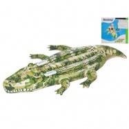 Krokodýl nafukovací s úchyty 175x102cm v krabičce