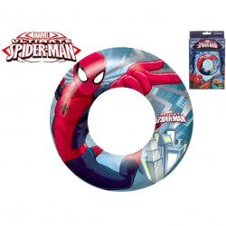 Kruh Spiderman nafukovací 56cm 3-6let v krabičce