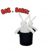 Bob 25cm a Bobek 20cm plyšoví s kloboukem 16cm 0m+ v sáčku