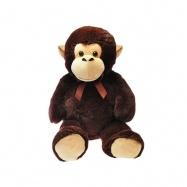 Opice plyšová 100cm 0m+ s mašlí v sáčku