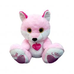 Pluszowy biało-różowy lis 55cm
