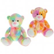 Medvěd plyšový 50cm sedící 0m+ 2barvy v sáčku