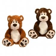 Medvěd plyšový 67cm sedící 0m+ 2barvy v sáčku