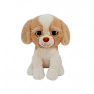 Pes plyšový 52cm sedící velké oči 0m+ v sáčku