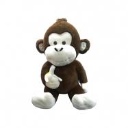 Opice plyšová s banánem 85 cm sedící