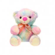 Medvěd plyšový 23cm sedící s mašlí 0m+