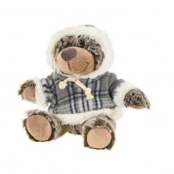 Medveď plyšový 15cm sediaci vo svetri 0m + v sáčku