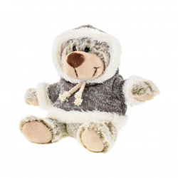 Medveď 15cm sediaci vo svetri 0m + v sáčku