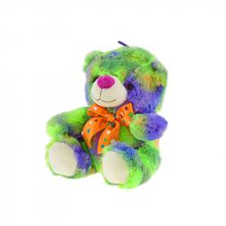 Medveď plyšový 25cm sediaci s mašľou 0m+