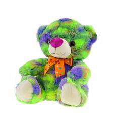 Medveď plyšový 35cm sediaci s mašľou 0m+