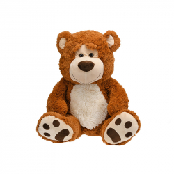 Medveď plyšový 67cm sediaci 0m+ svetlohnedý v sáčku